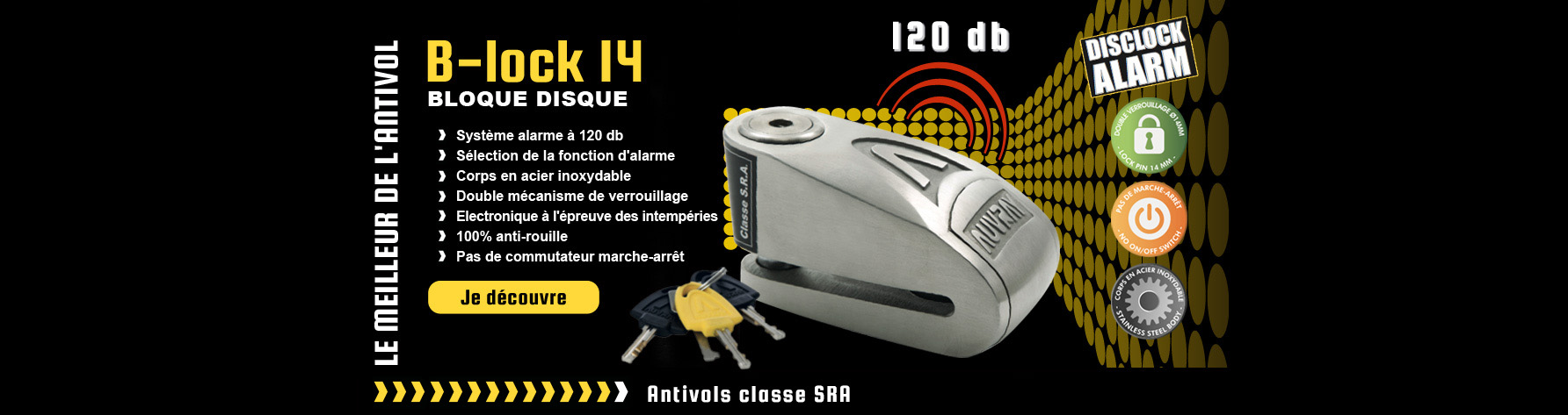 BLOQUE DISQUE – B lock 14 inox Auvray Security