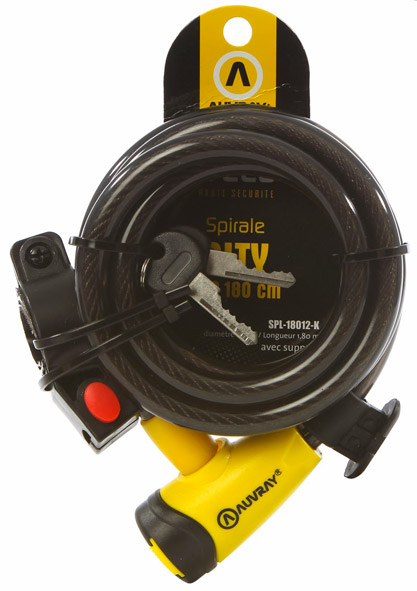 Antivol Cable Spirale D12